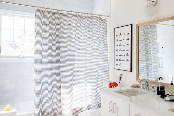Painterly Stripe Shower Curtain