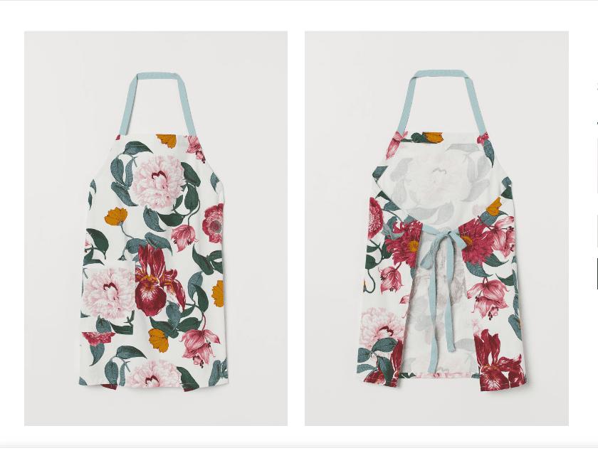 Patterned cotton apron