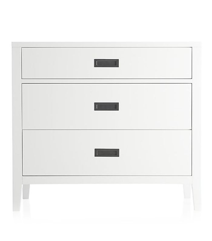 Arch White 3-Drawer Chest - Crate and Barrel