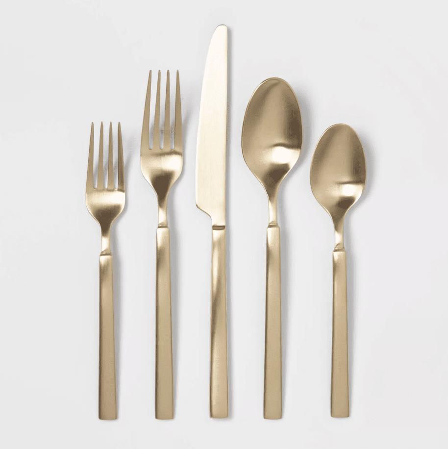 stainless silverware