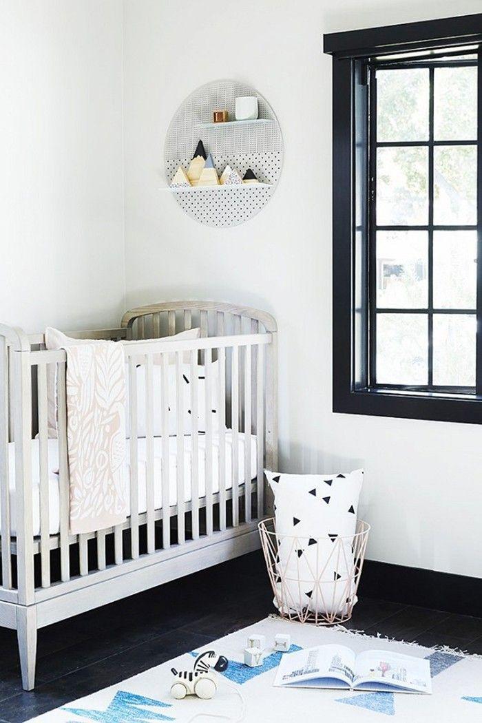 black and white minimal scandinavian nursery