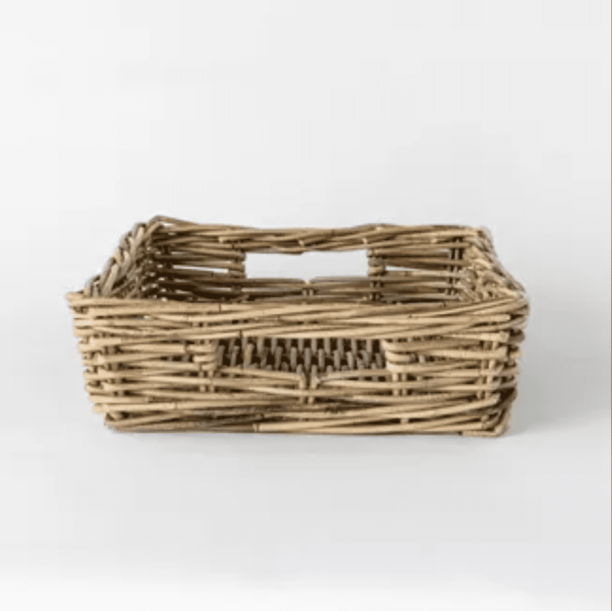 Decorative rattan tray with handles
