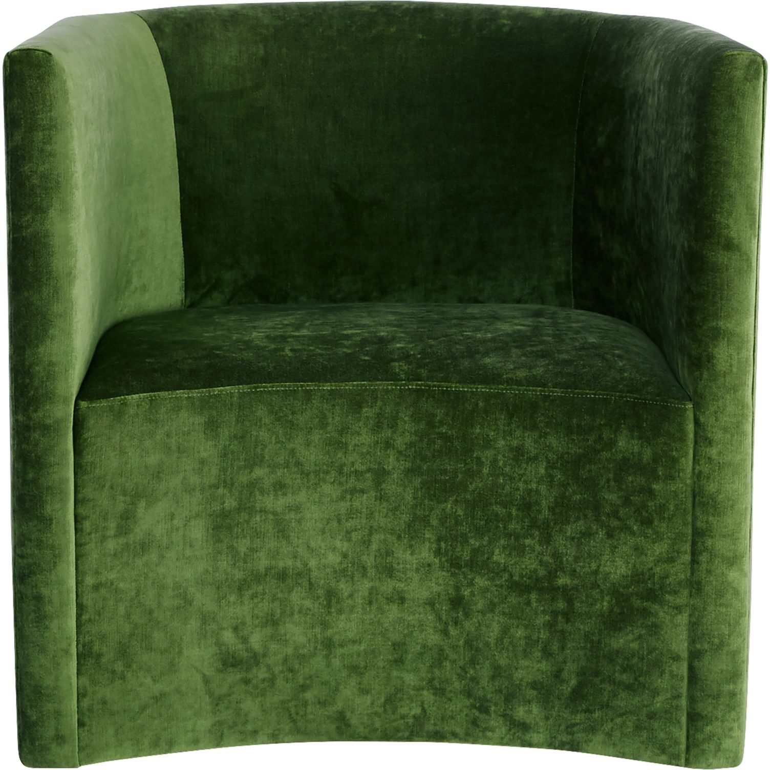 CB2 Covet Cypress Velvet Curved Chair