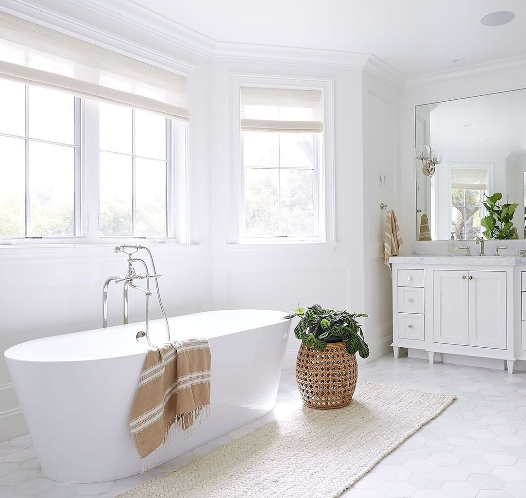 Bathroom with overhead light