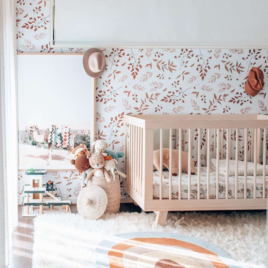 Nursery with wallpaper