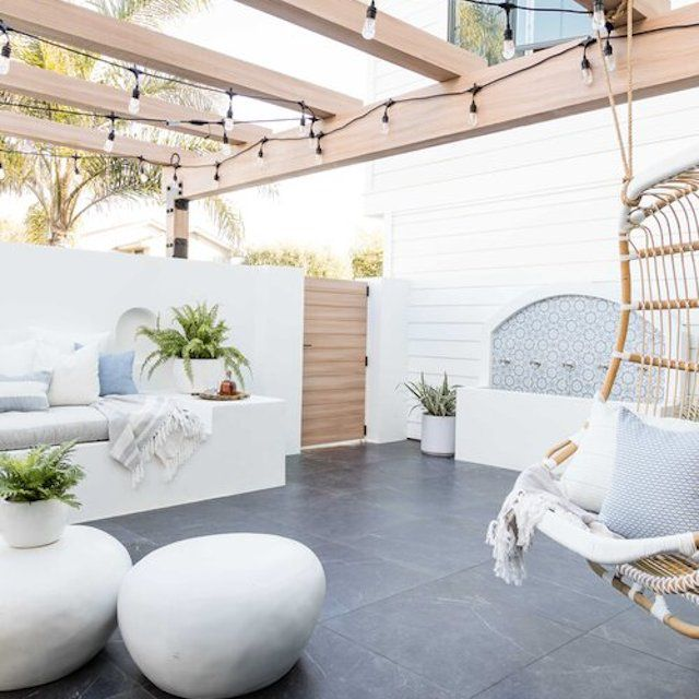 poolside decor modern organic