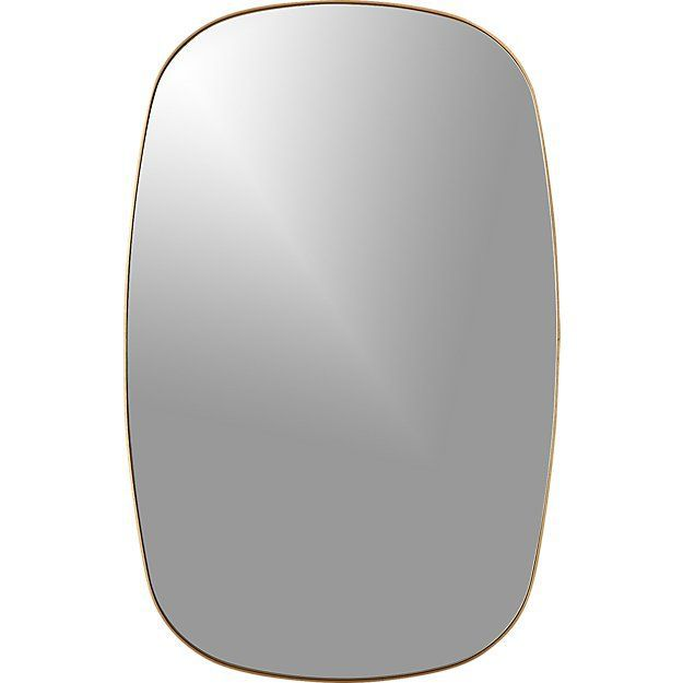 CB2 Infinity Brass Oblong Wall Mirror
