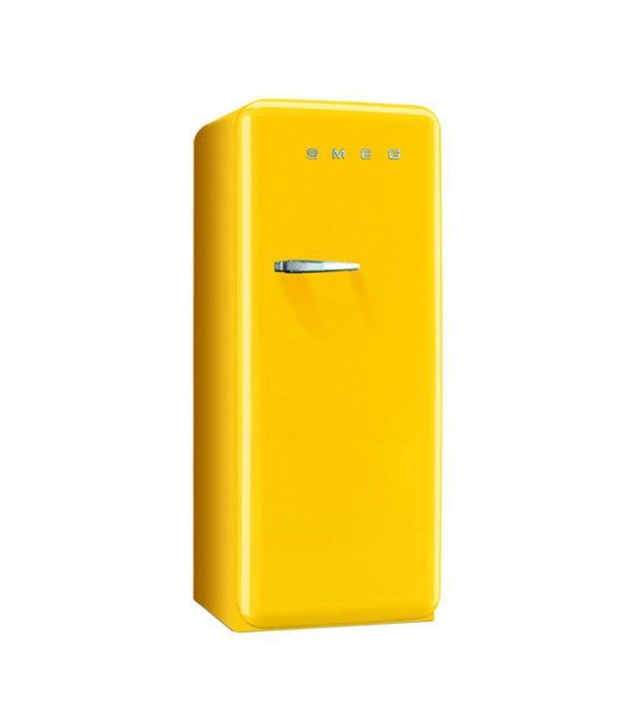 Yellow Retro Refrigerator