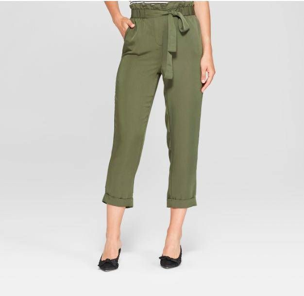Straight Leg Relaxed Ankle Trousers