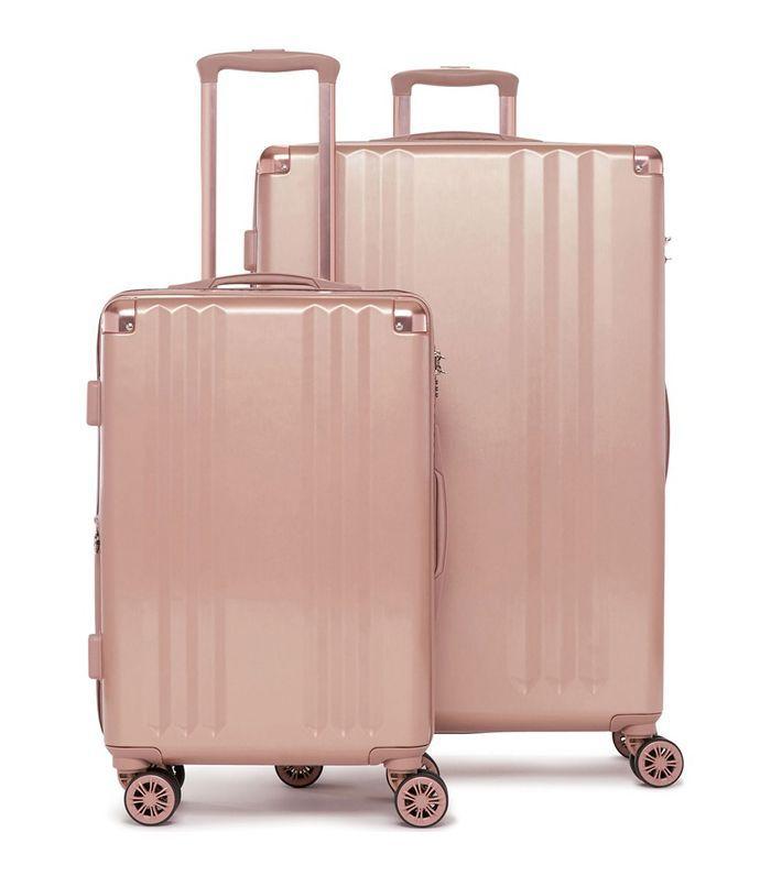 Calpak Ambeur 2-Piece Spinner Luggage Set in Metallic