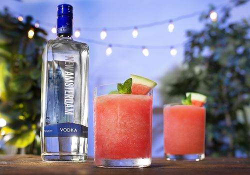 New Amsterdam Vodka With Frozen Melon Go Lemonade Cocktails