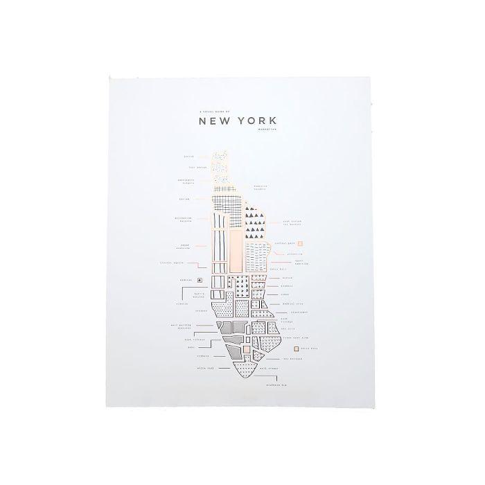 42 Pressed New York Map