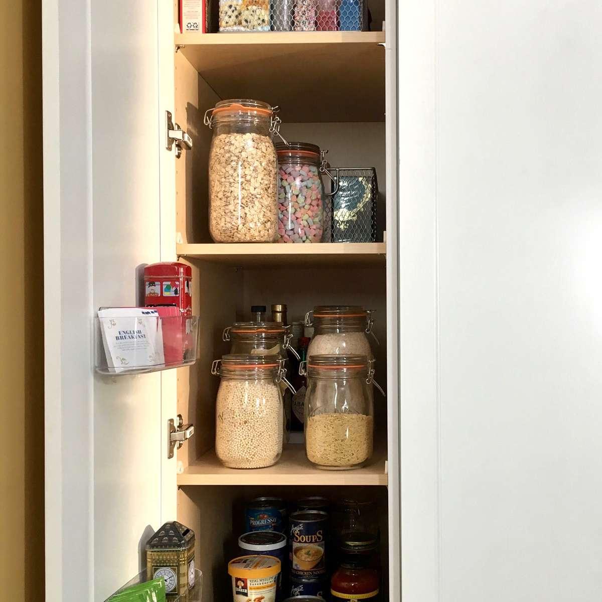 Kitchen cabinet organized