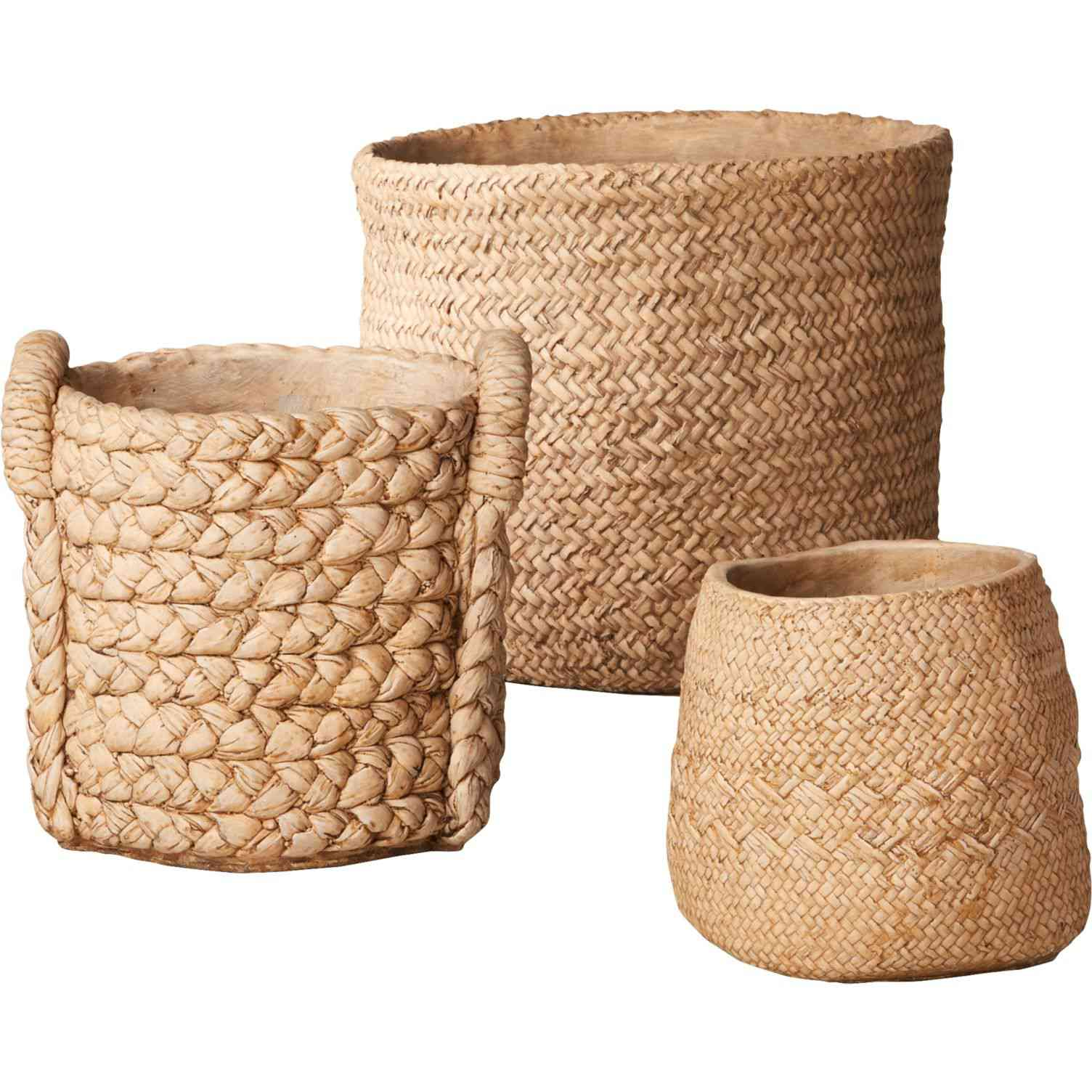 CB2 Cement Basket Planters