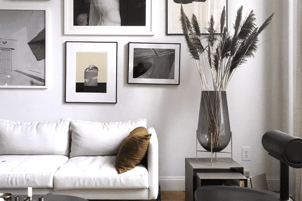 Black and white gallery wall.