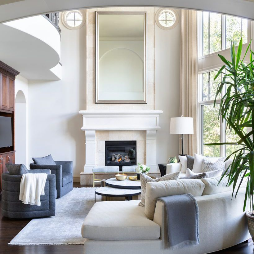 supersized white couch living room