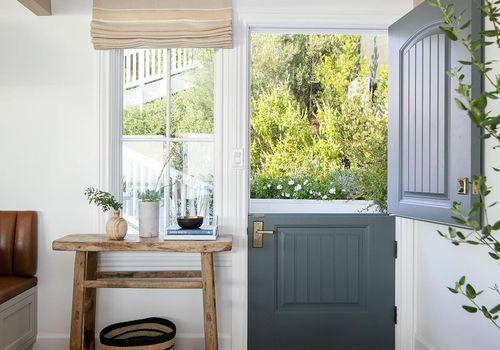 Slate blue Dutch door