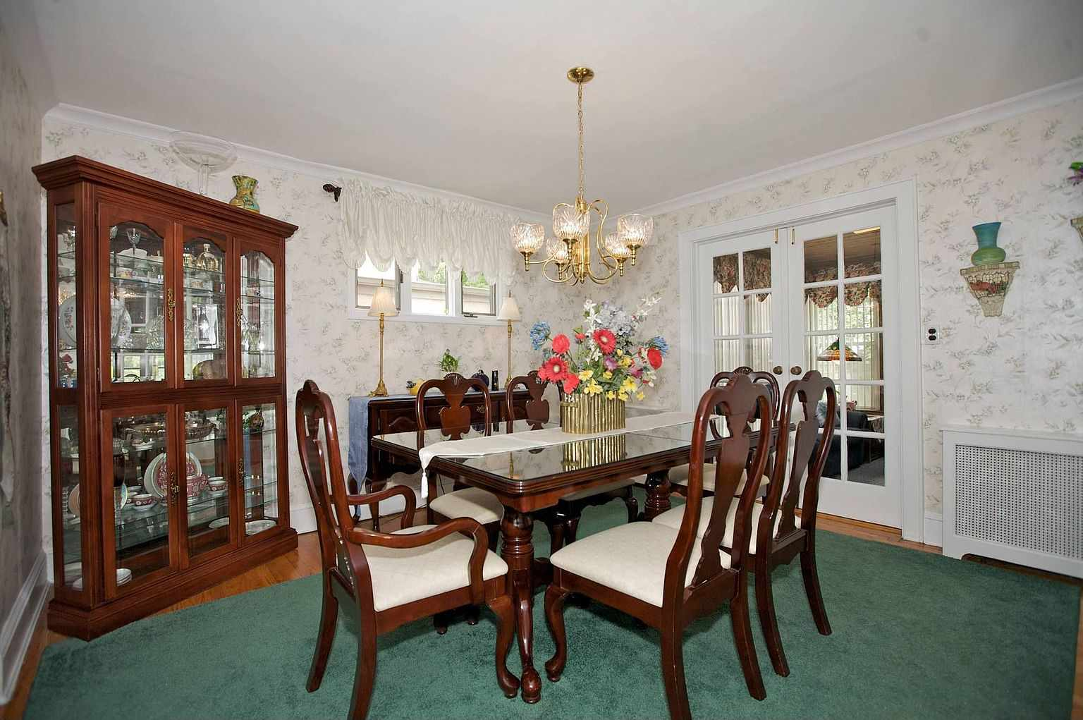 Before shot of 1930s dining room.