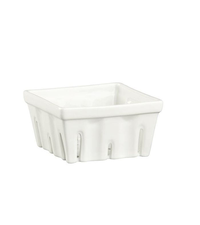 Berry Box White Colander - Crate and Barrel