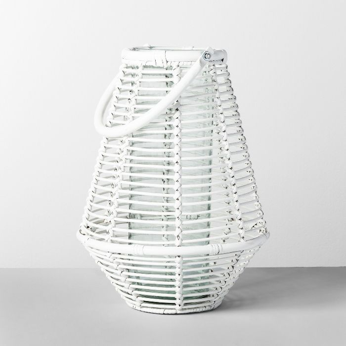 Opalhouse Rattan Lantern Candler Holder
