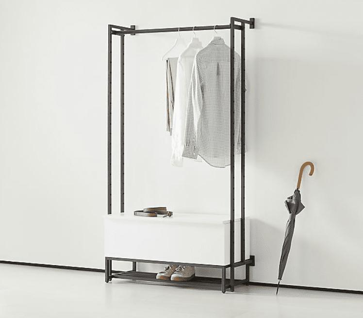 Crate&Barrel Flex Modular Bench with Clothing Bar