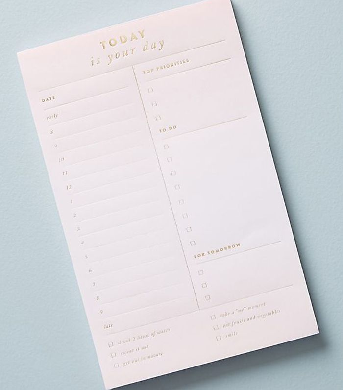 Golden Fill-In Notepad