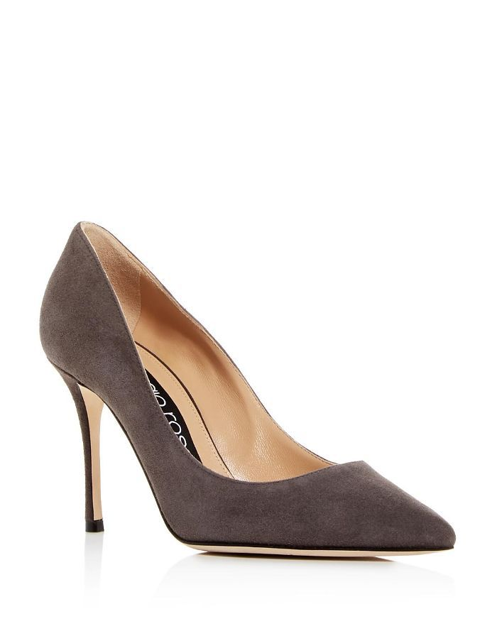 Women's Suede Pointed Toe Pumps