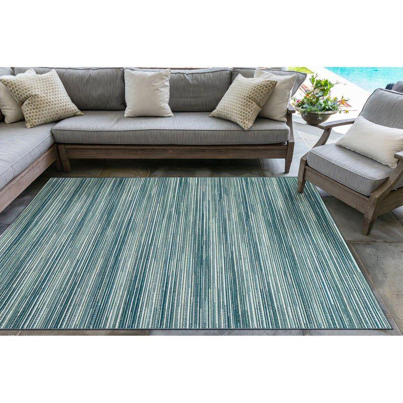 Liora Manne Marina Stripes Indoor/Outdoor Rug