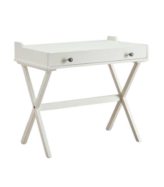 Antique White Wood Dayana Flip Top Desk by World Market