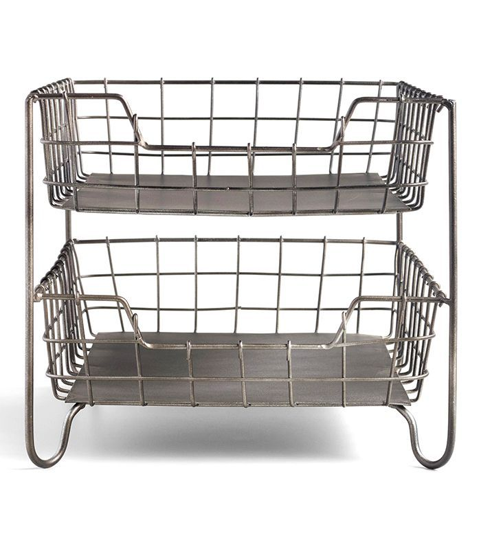 Espresso Wire Carter Paper Tray: Brown - Metal by World Market