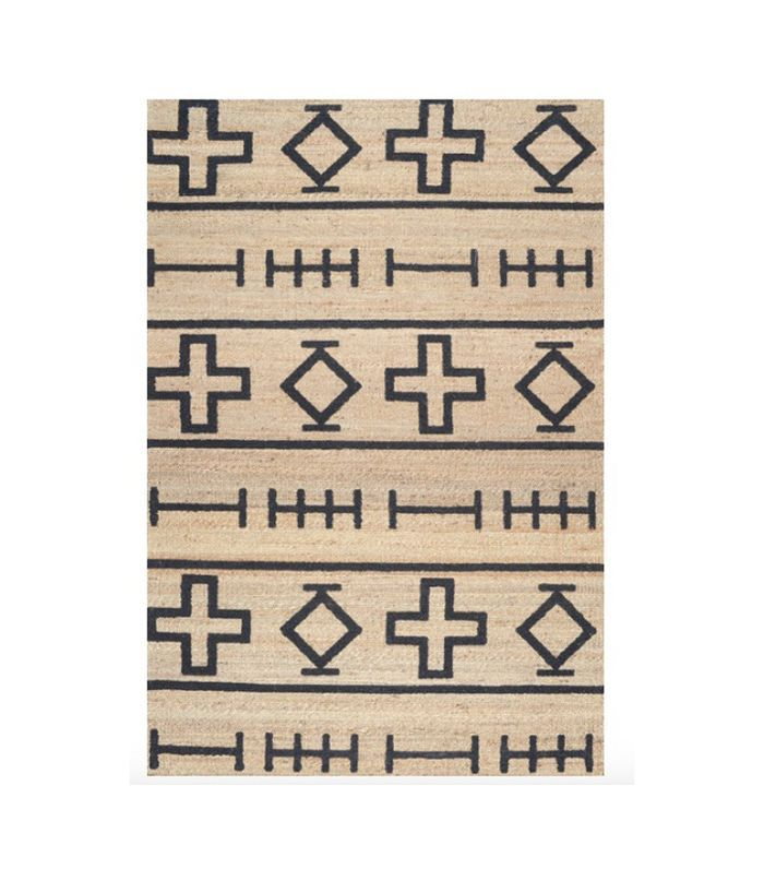 Houzz Clay Geometric Area Rug, Natural, 8'x10'