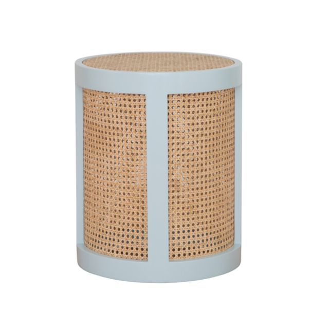 Painted wood and cane Franny side table by Society Social