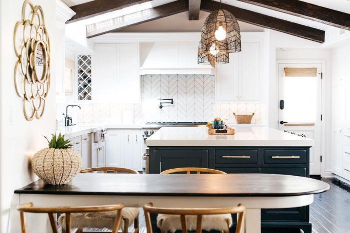 Trish y Billy Ray Cyrus: diseño moderno de cocina