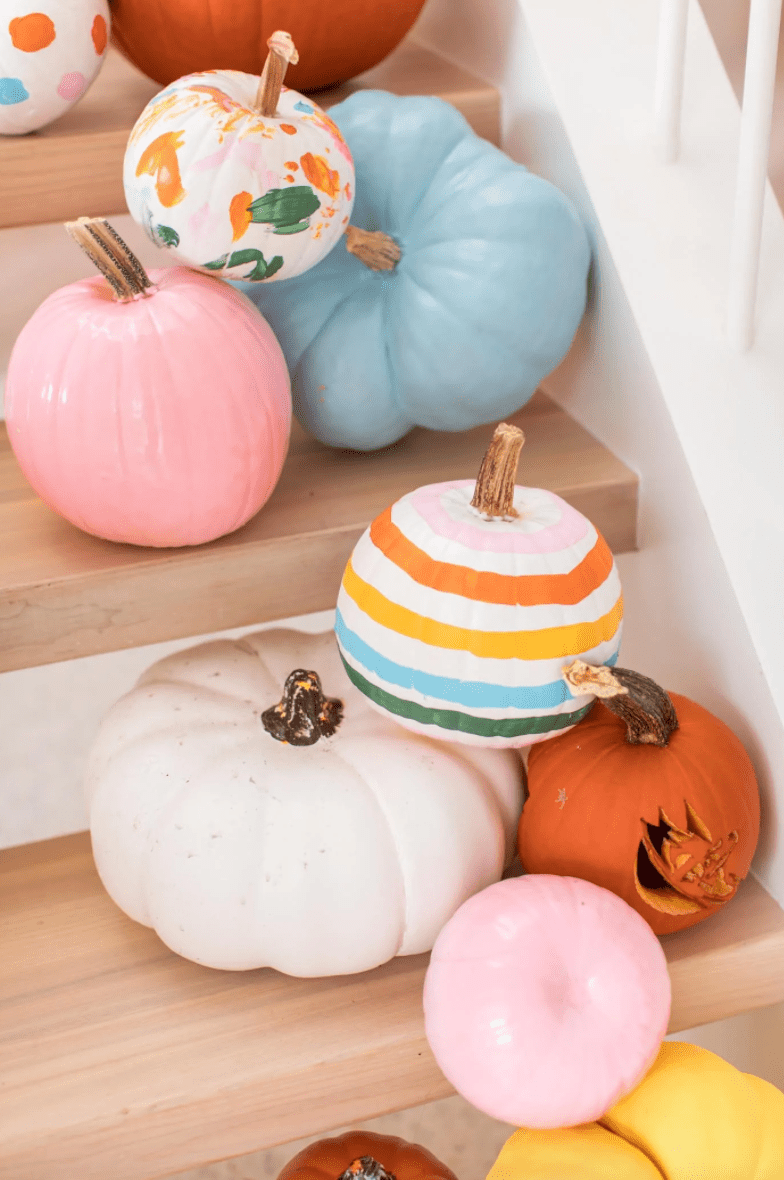 Pumpkins with paint