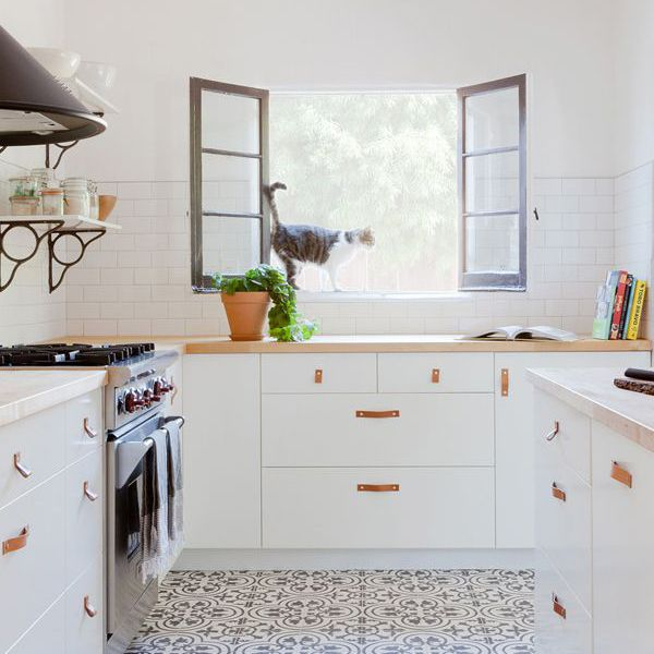 a bright, all-white kitchen