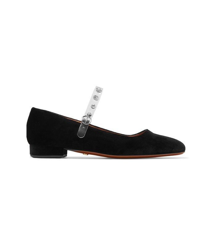 AlexaChung 20mm Velvet Mary Jane Flats
