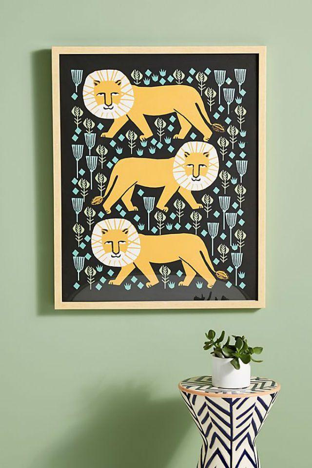 Safari Lion Wall Art