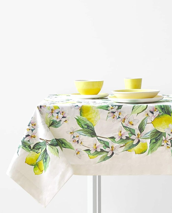 Zara Home Lemon Print Tablecloth