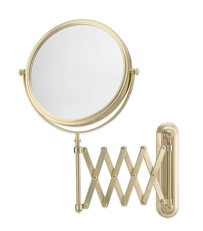 Bed Bath & Beyond Extension Arm Wall Mirror in Brushed Brass
