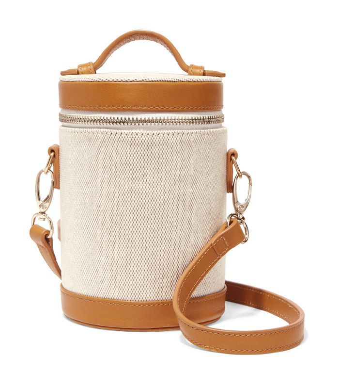 Crossbody Capsule Leather-trimmed Canvas Shoulder Bag
