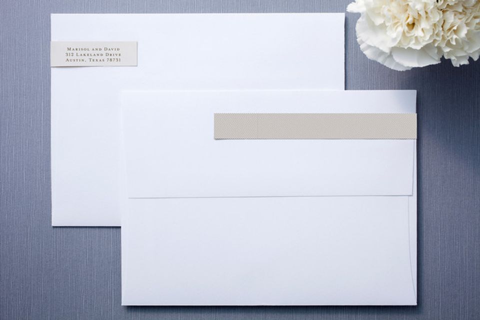modern crest skinnywrap™ address labels