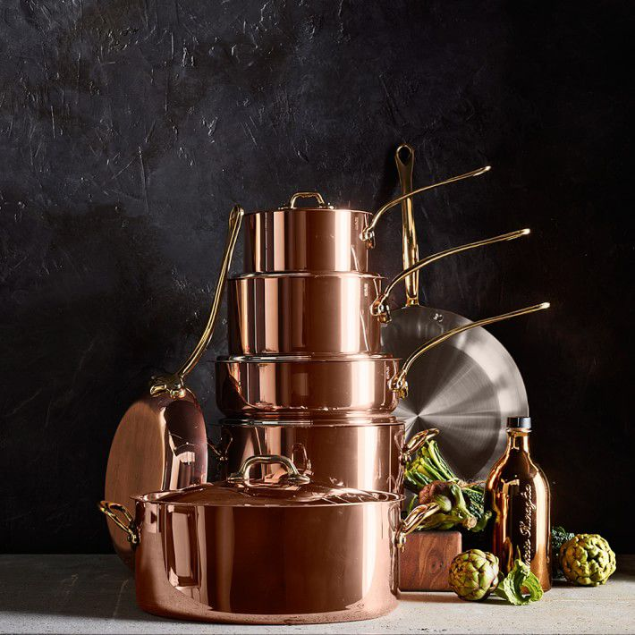 Mauviel Copper 150b 12-Piece Cookware Set