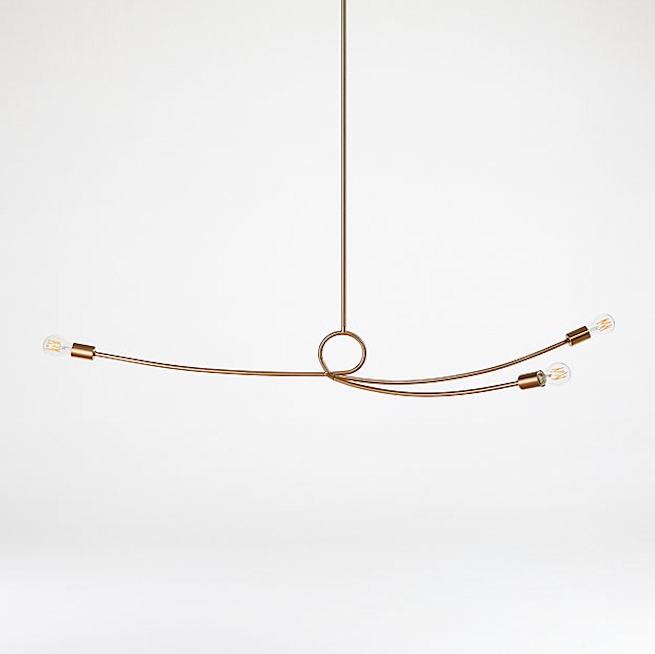 Paula Brass Sculptural Pendant Light