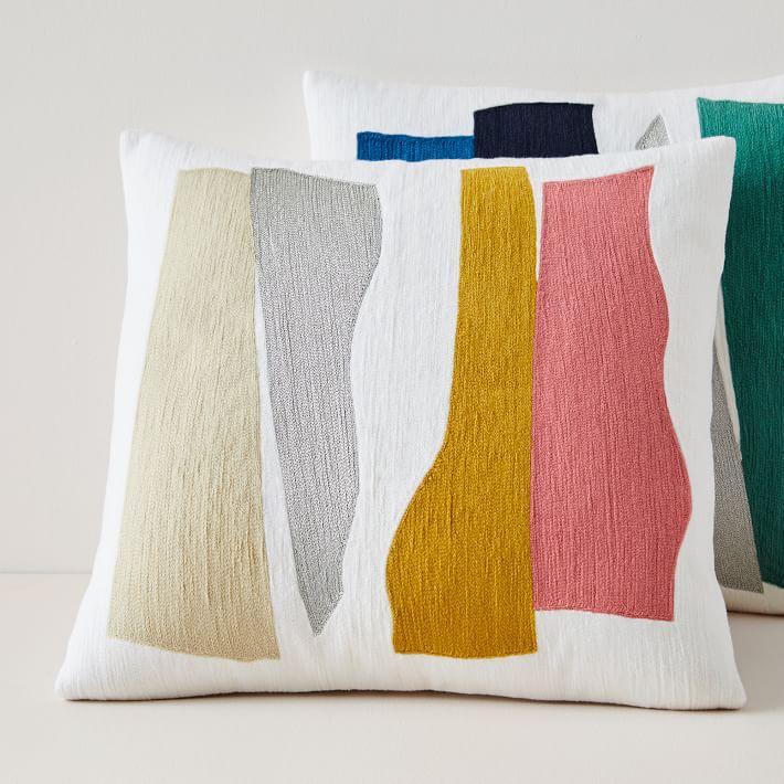 West Elm Crewel Wavy Cutouts Pillow Covers