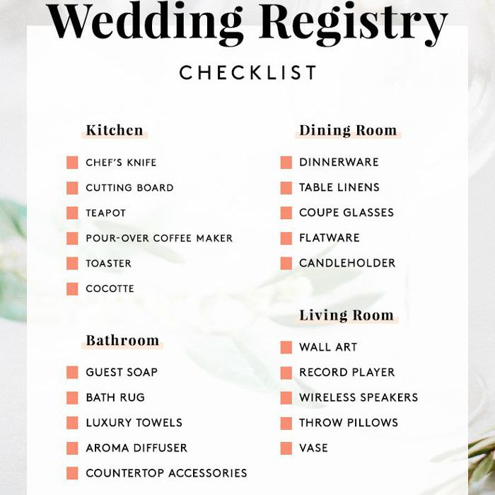 What To Put On A Wedding Registry.Experts Say This Is What You Really Should Register For