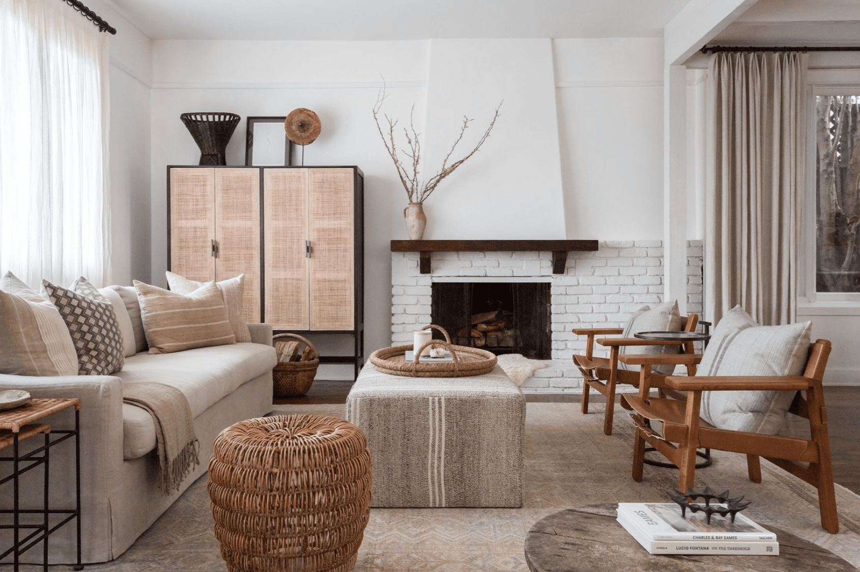 Living room with neutral color scheme