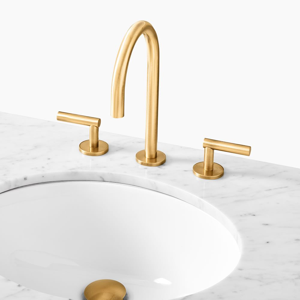 A gold faucet, currently for sale at West Elm