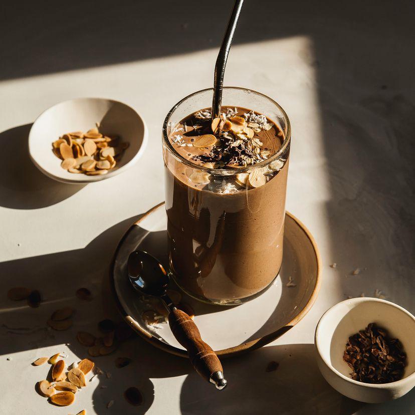 Batido de avena y chocolate