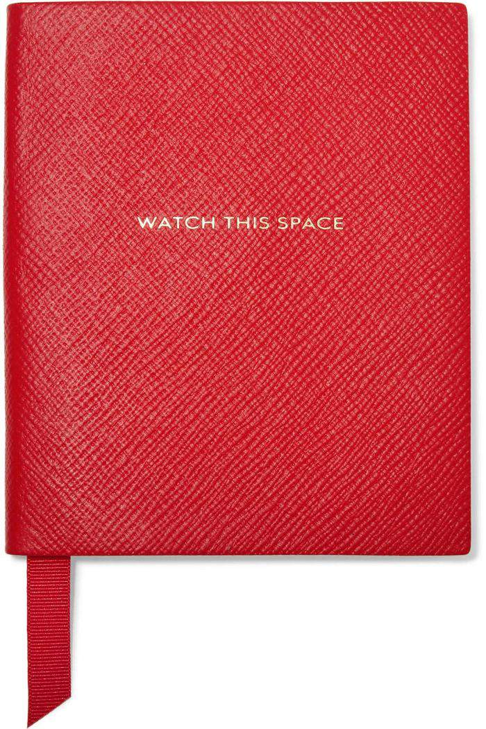 Panama Watch This Space Textured-leather Notebook