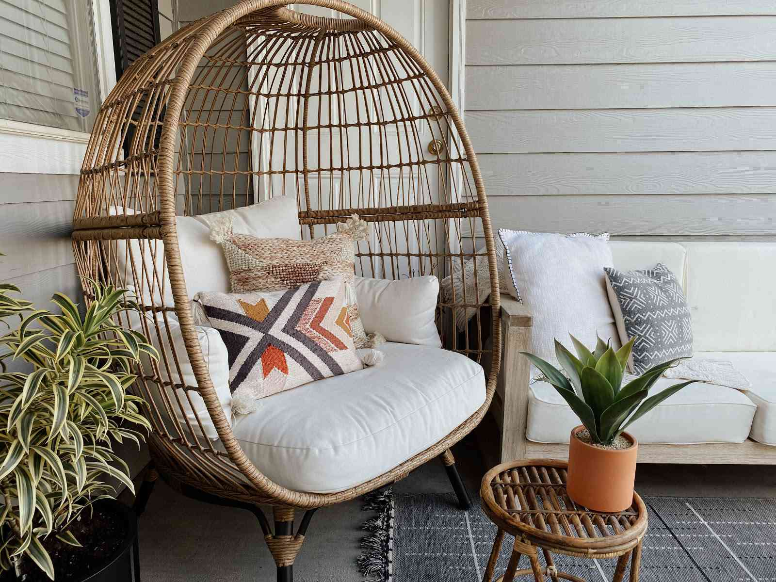 outdoor space with comfortable chairs
